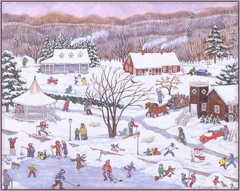 Winter In North Hatley-WeaISC. Ann Mitchell