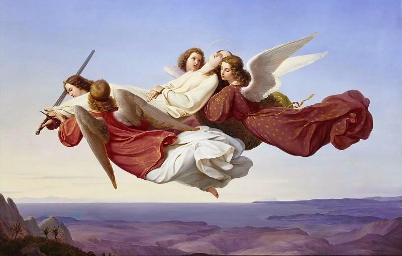 Тело святой Екатерины Александрийской, возносимое ангелами в рай. Генрих Мюке