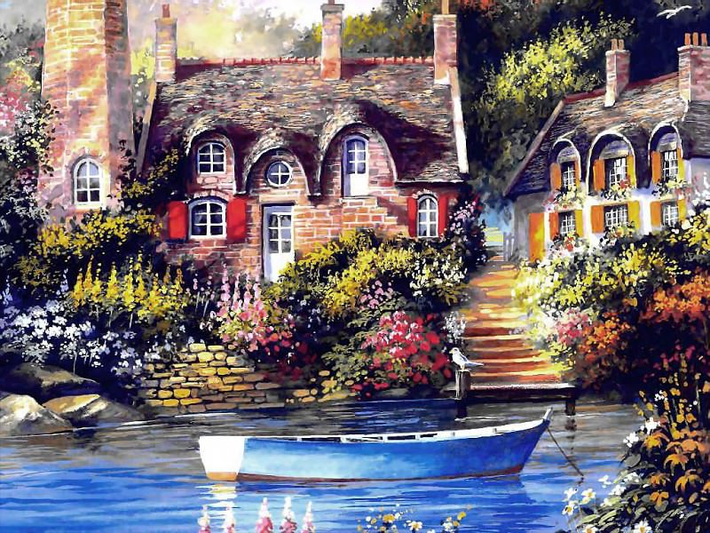 cottage charm. Jim Mitchell