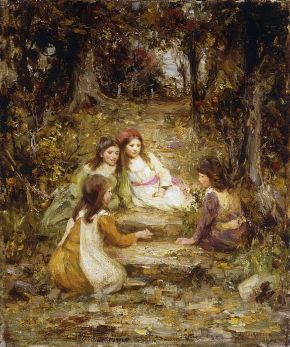 Children in an Orchard. William Stewart MacGeorge