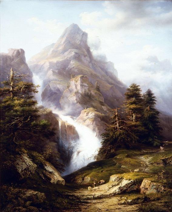 Вид на водопады Серио. Андреа Антонио Мария Маренци