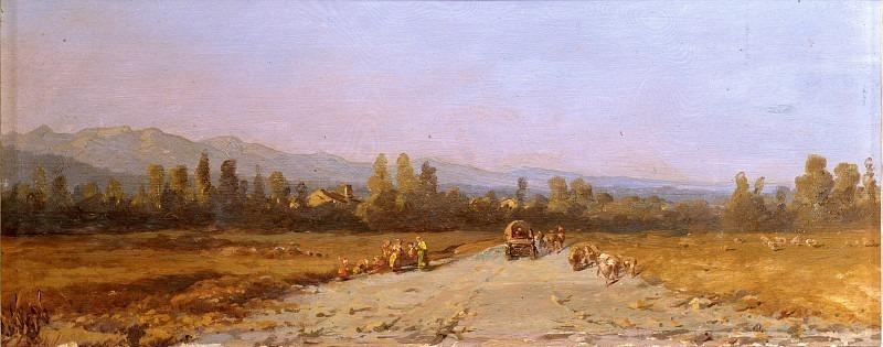 Вид на поля Бруспорто на закате. Андреа Антонио Мария Маренци