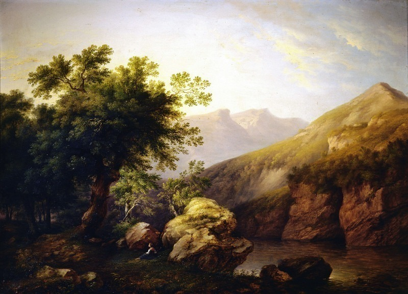 Речной пейзаж. Андреа Антонио Мария Маренци