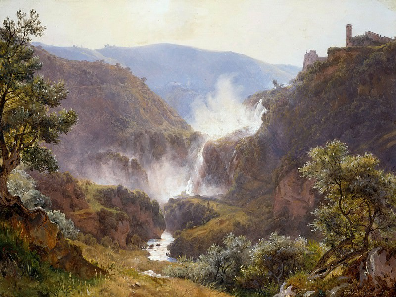 Waterfall at Tivoli. Carl Morgenstern