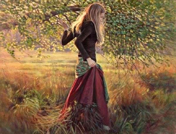 Бриджит под деревом. Жан Монти