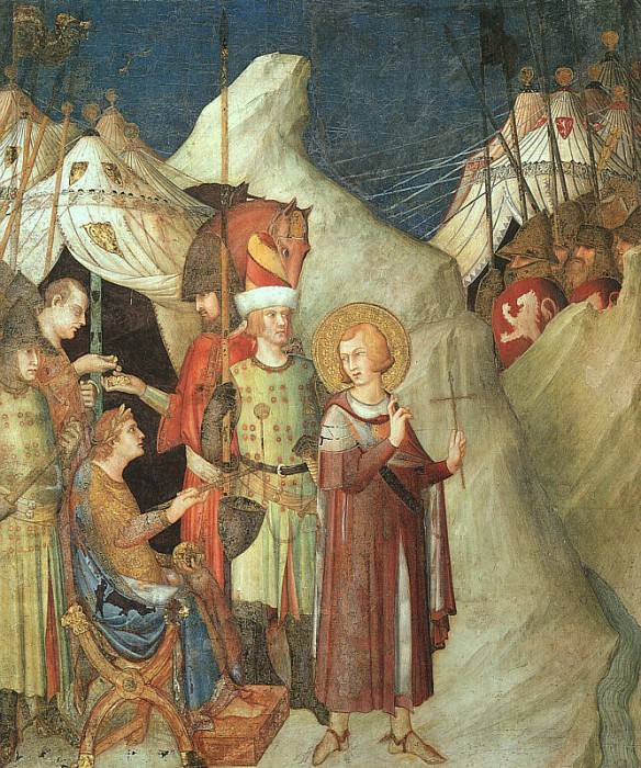 Saint Martin Renouncing the Sword, approx. 1321,fres. Simone Martini
