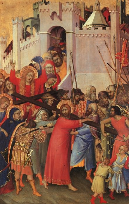 Martini Orsini Diptych, panel featuring The Carrying of the. Simone Martini
