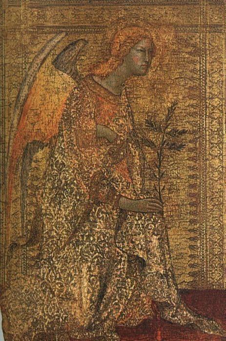 Ангел, принесший благую весть, 1333. Симоне Мартини