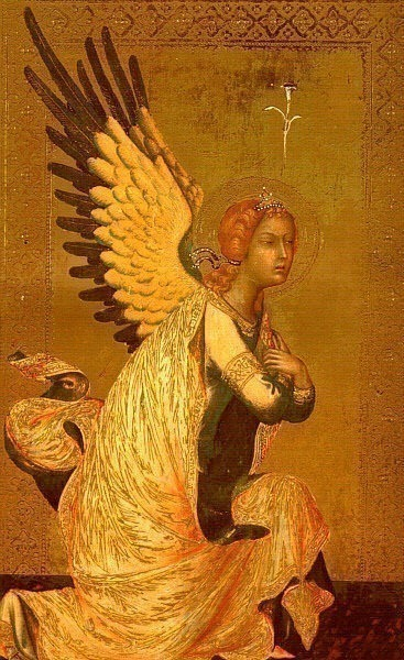 The Angel of the Annunciation, after 1339, panel pai. Simone Martini