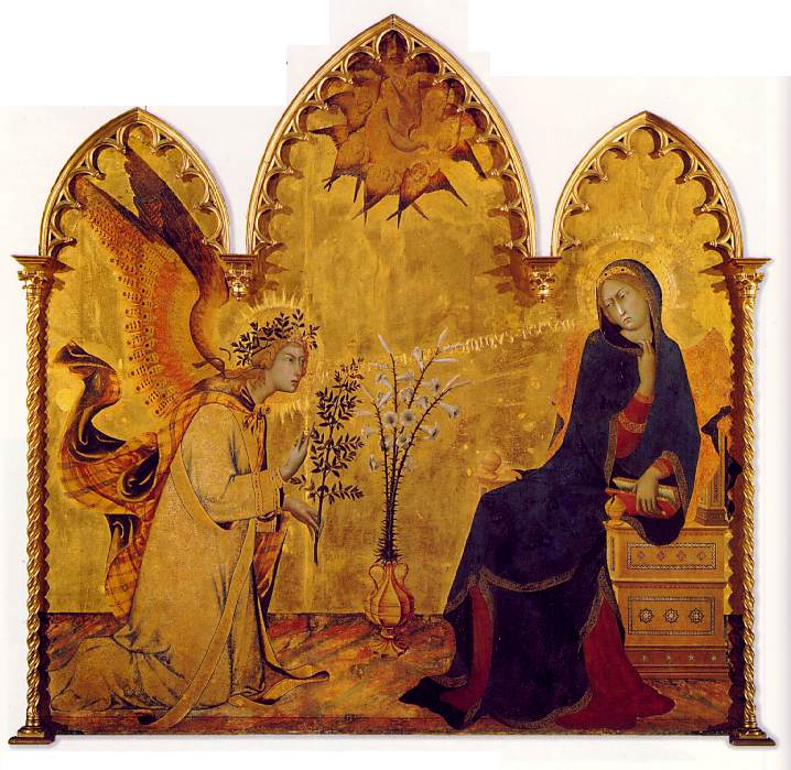 The angel and the anunciation, 1333, Tempera on pane. Simone Martini