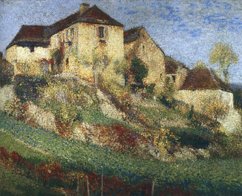 Paysage avec Maison. Henri-Jean-Guillaume Martin