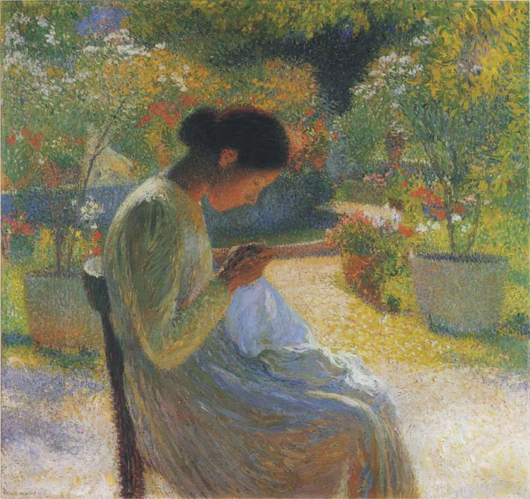 Sewing in the garden at Marquayrol 01. Henri-Jean-Guillaume Martin