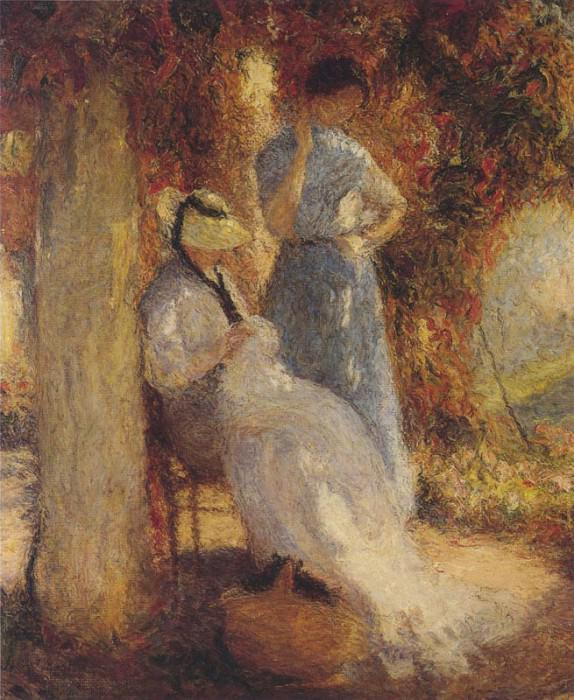 Sewing at Marquayrol. Henri-Jean-Guillaume Martin
