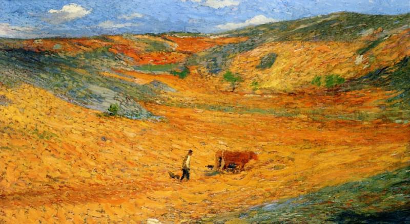 Laboureur au Fond dune Combe 1920. Henri-Jean-Guillaume Martin