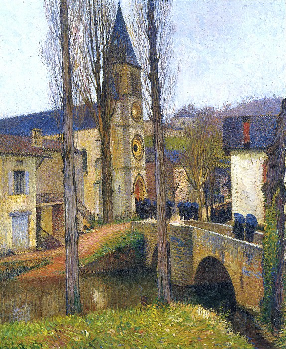 Church Mass at Labastide du Vert. Henri-Jean-Guillaume Martin