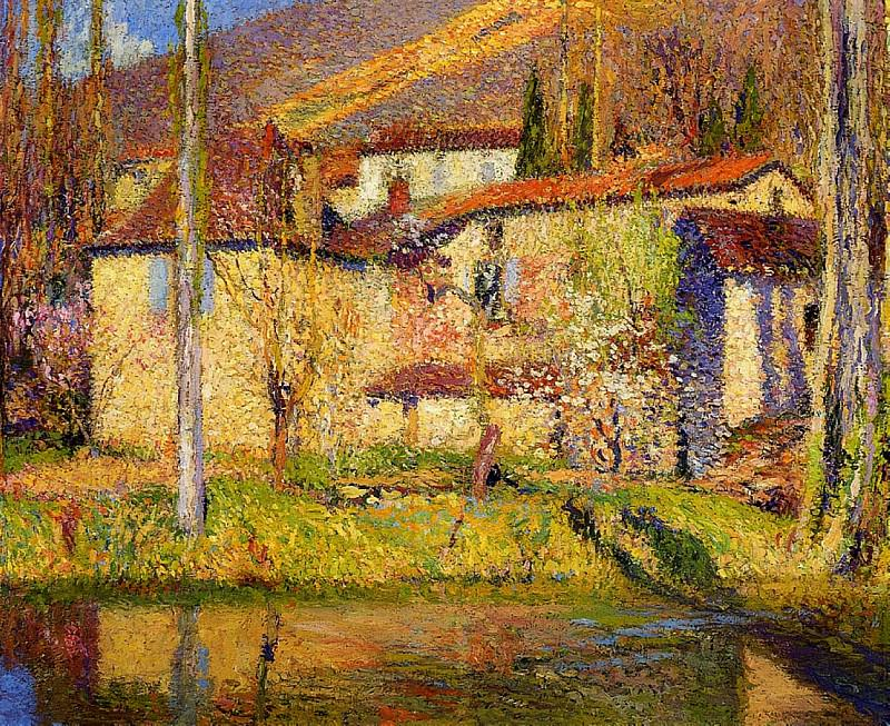 Landscape near Toulouse 1910. Henri-Jean-Guillaume Martin