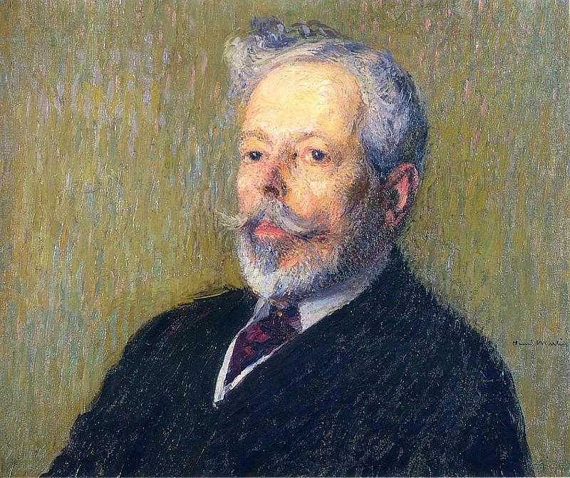 Henri Martin Self Portrait. Henri-Jean-Guillaume Martin