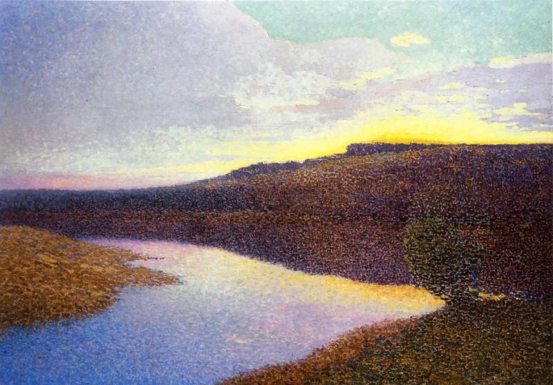 Lot Landscape 1890. Henri-Jean-Guillaume Martin