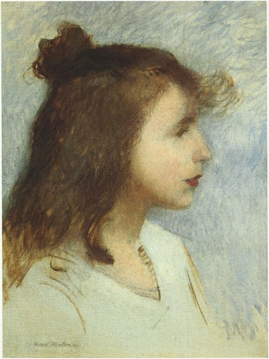 Sketch of a Young Girl 1888. Henri-Jean-Guillaume Martin