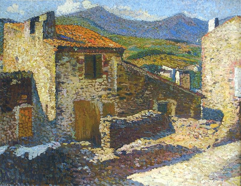 Village in the Sun. Henri-Jean-Guillaume Martin