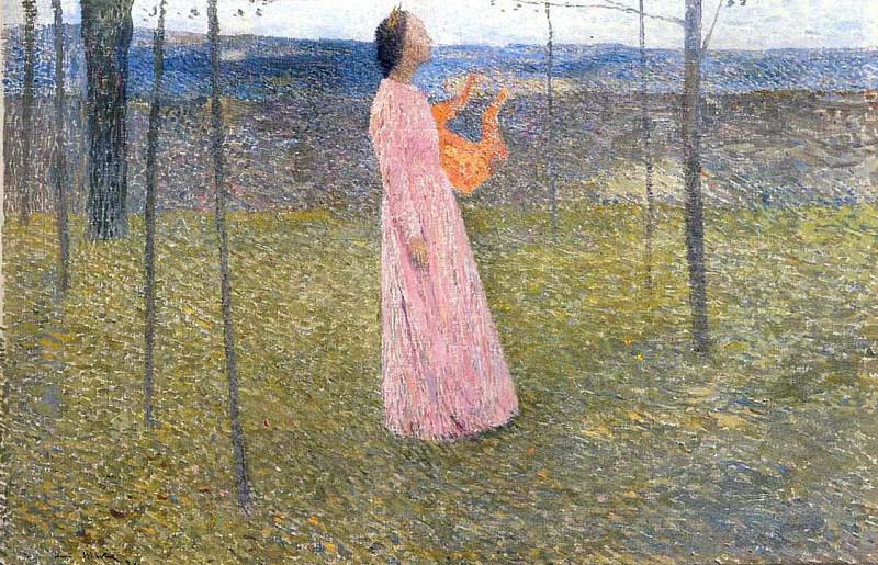 Muse in the Fields. Henri-Jean-Guillaume Martin