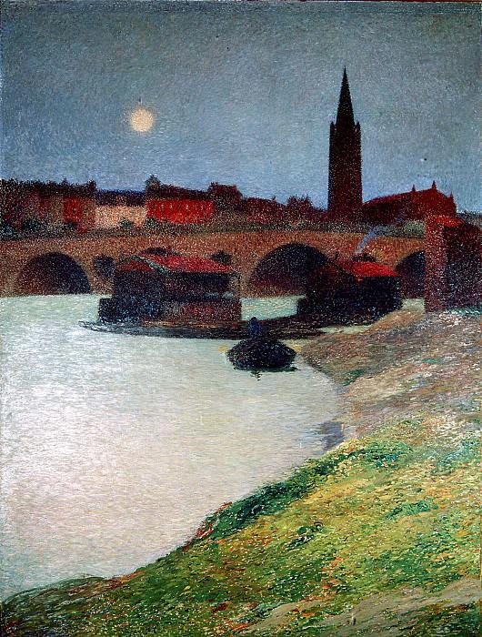 Le Pont neuf et la Dalbade. Henri-Jean-Guillaume Martin