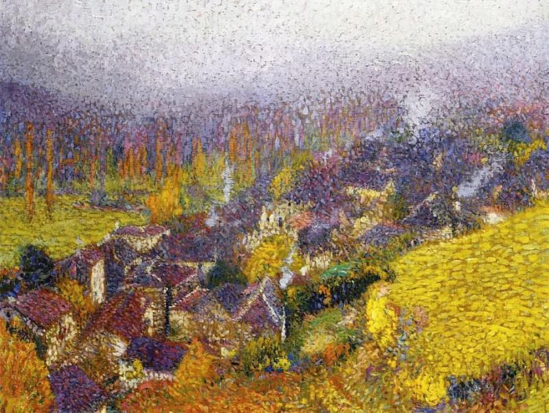 Autumn over Labastide du Vert 1920. Henri-Jean-Guillaume Martin
