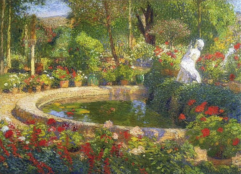 Фонтан или бассейн в усадьбе Маркайроль, 1885. Анри-Жан-Гийом Мартин