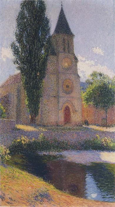 Church at Labastide du Vert 1919. Henri-Jean-Guillaume Martin