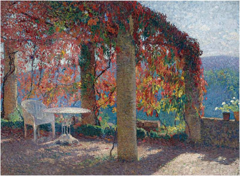 Pergola in Marquayrol in Autumn. Henri-Jean-Guillaume Martin