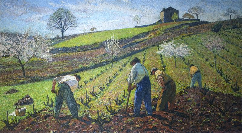 Cultivation of the Vines. Henri-Jean-Guillaume Martin