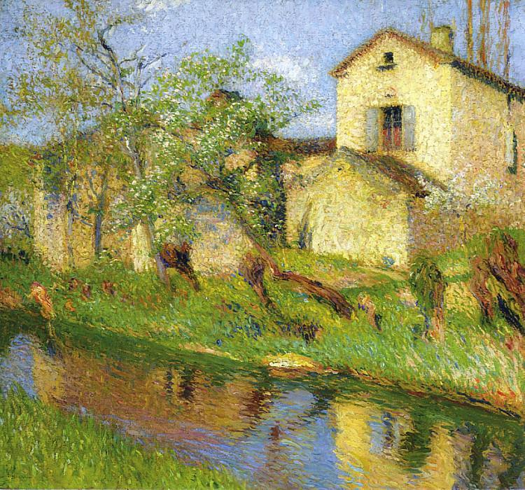 Maison au Bord de Ruisseau. Henri-Jean-Guillaume Martin