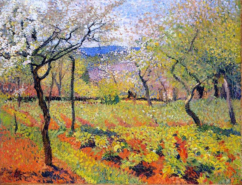 Flowering Garden in Spring 1920. Henri-Jean-Guillaume Martin