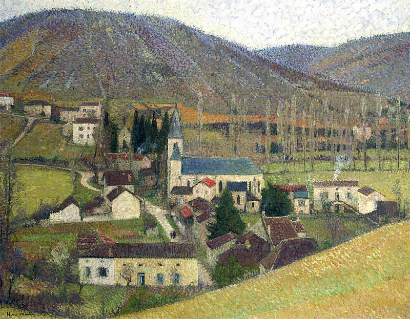 View of Labastide in Gray Weather. Henri-Jean-Guillaume Martin