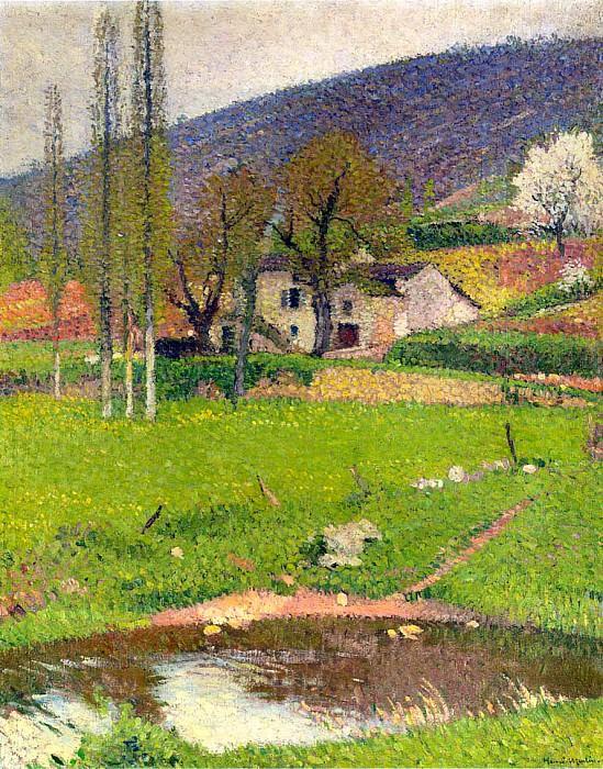 Landscape near Toulouse. Henri-Jean-Guillaume Martin
