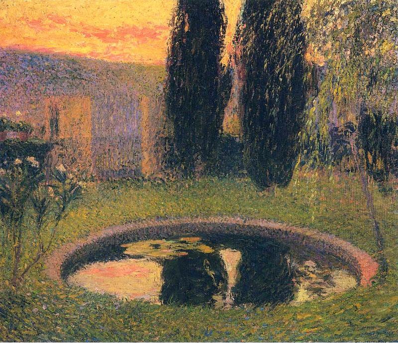 Пруд в саду. Анри-Жан-Гийом Мартин