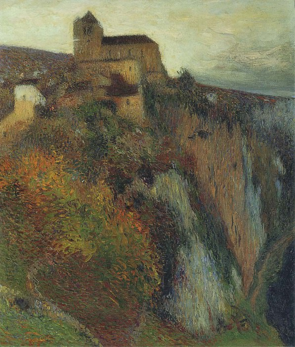 Saint Cirq Lapopie in Evening 1897. Henri-Jean-Guillaume Martin