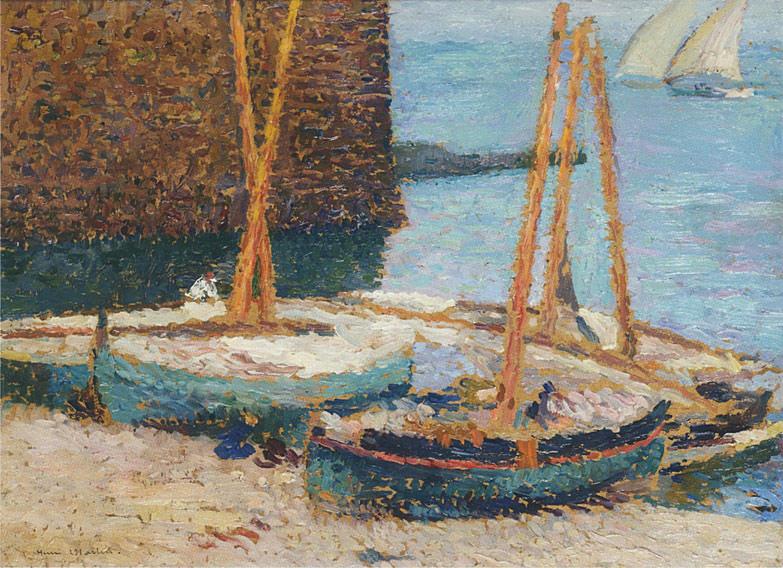 Bateaux Entree du Port Collioure. Henri-Jean-Guillaume Martin