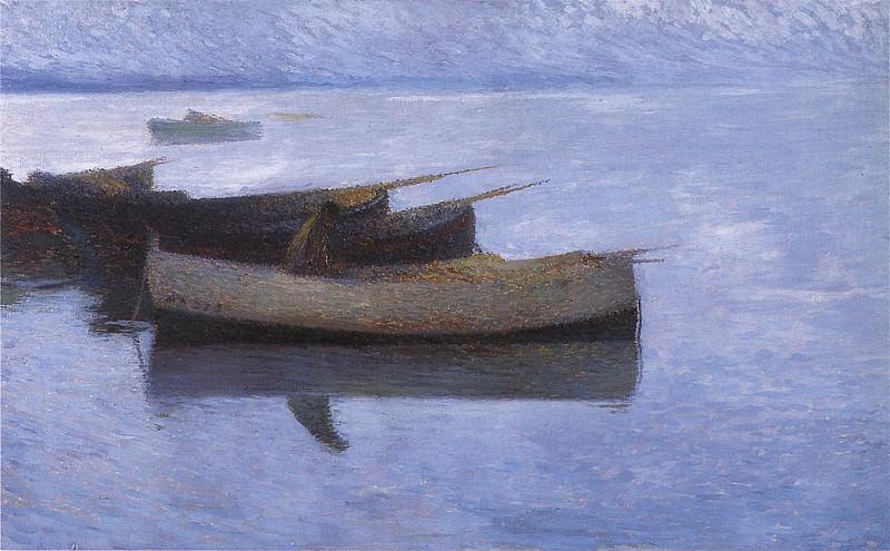 Marine par Temps Gris. Henri-Jean-Guillaume Martin