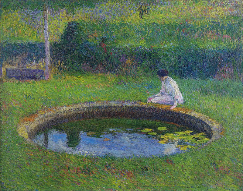 Madame Martin by the Pool in Marquayrol. Henri-Jean-Guillaume Martin