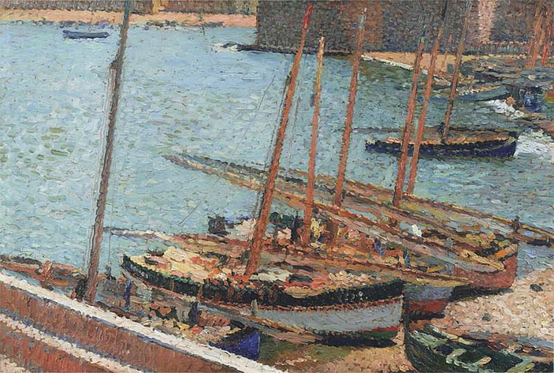 Bateaux en Port Collioure 02. Henri-Jean-Guillaume Martin