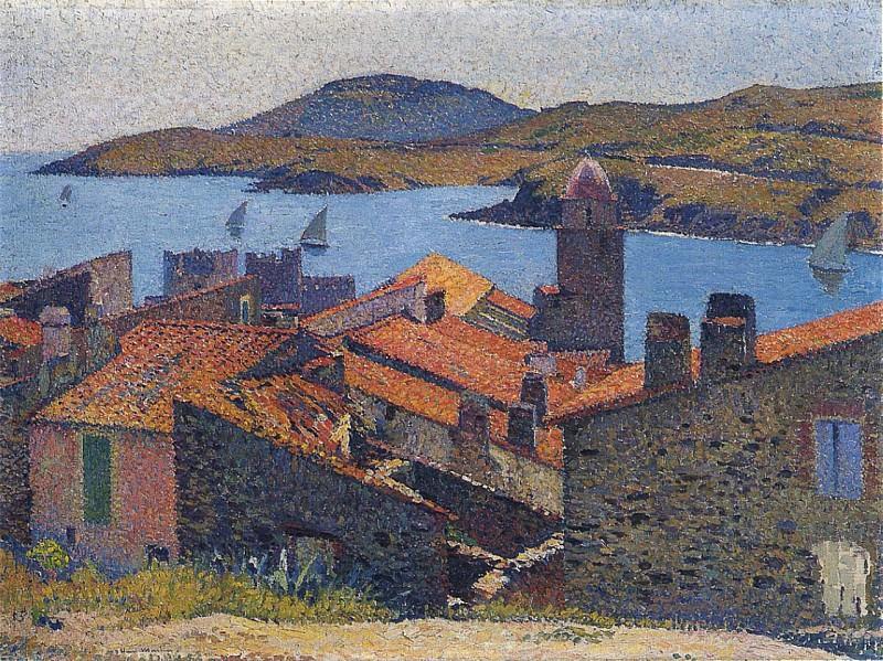 Collioure et Toits Rouges. Henri-Jean-Guillaume Martin