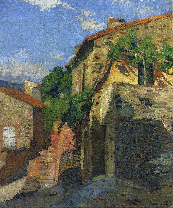 Houses at Collioure. Henri-Jean-Guillaume Martin