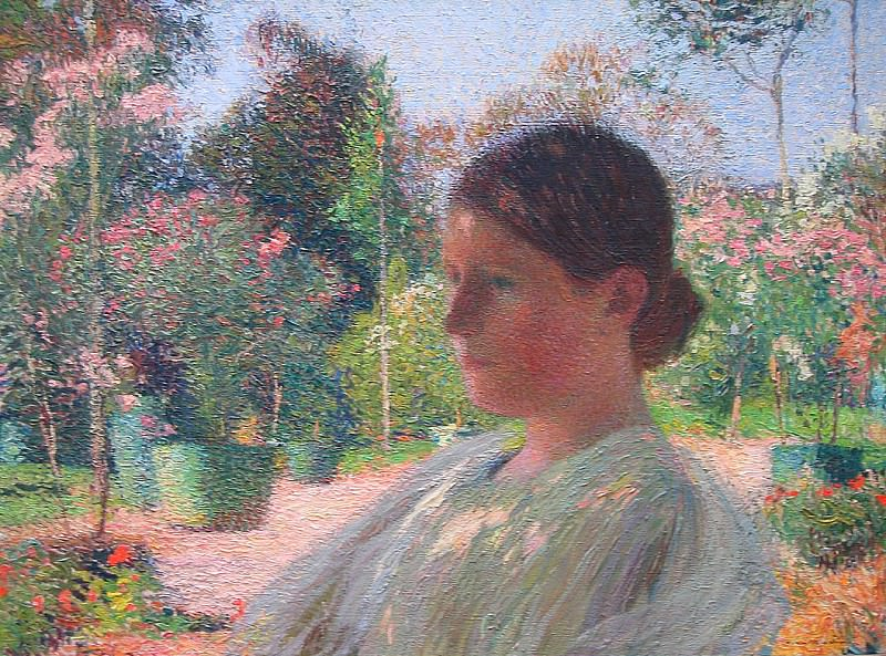 The Pensive Young Woman. Henri-Jean-Guillaume Martin