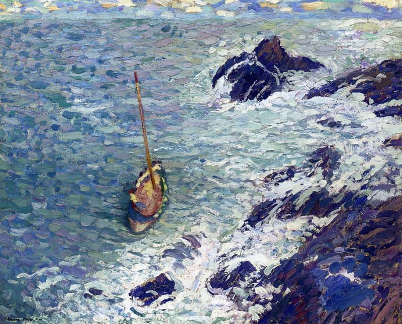 Boat near Cliffs. Henri-Jean-Guillaume Martin
