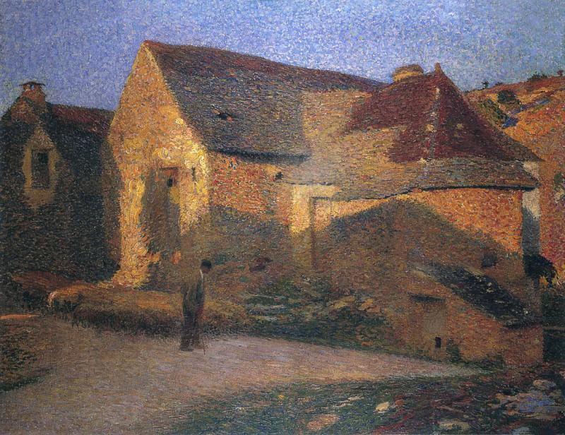Старый дом в последних лучах солнца. Анри-Жан-Гийом Мартин