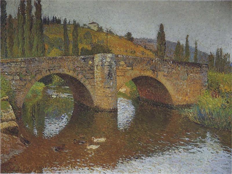 Le Pont en Labastide du Vert. Henri-Jean-Guillaume Martin