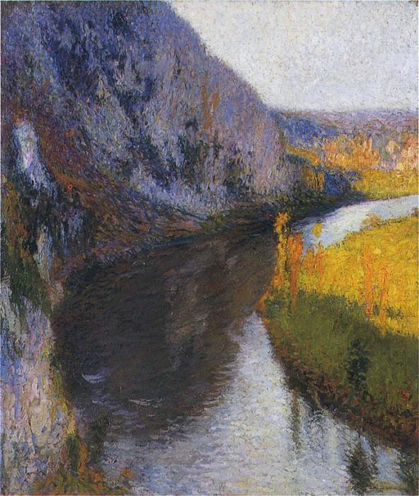 Утесы или скалы над рекой Ло, 1897. Анри-Жан-Гийом Мартин