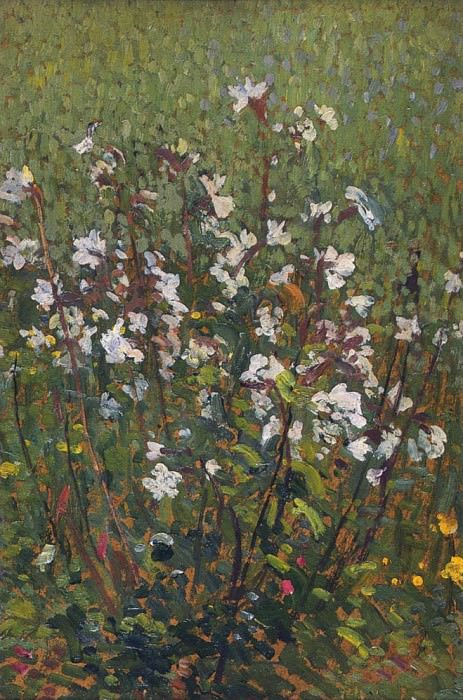 White Flowers in the Field. Henri-Jean-Guillaume Martin