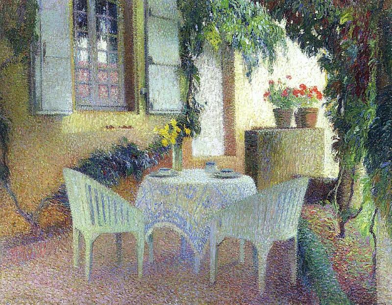 Terrasse du Manoir a Marquayrol. Henri-Jean-Guillaume Martin